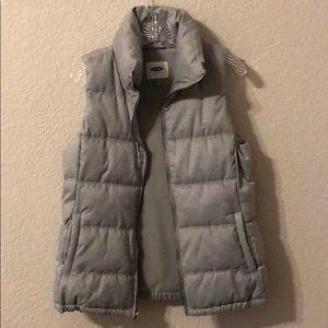 NWOT Old Navy herringbone puffer vest